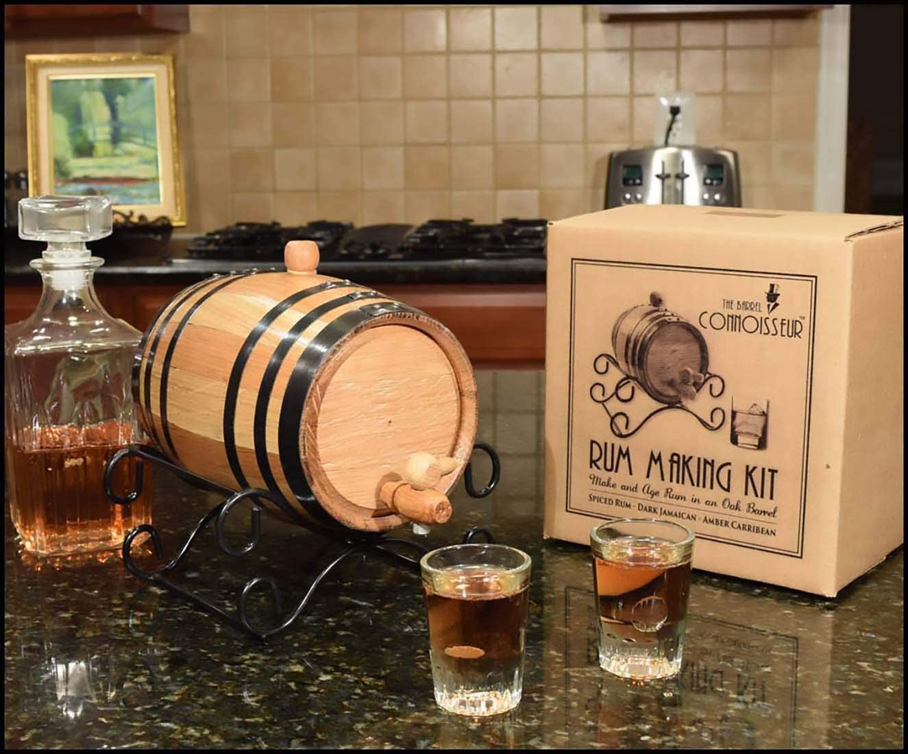 1 Liter The Barrel Connoisseur Rum Making Kit 60-RB05-KS6R Thousand Oaks Barrel Co