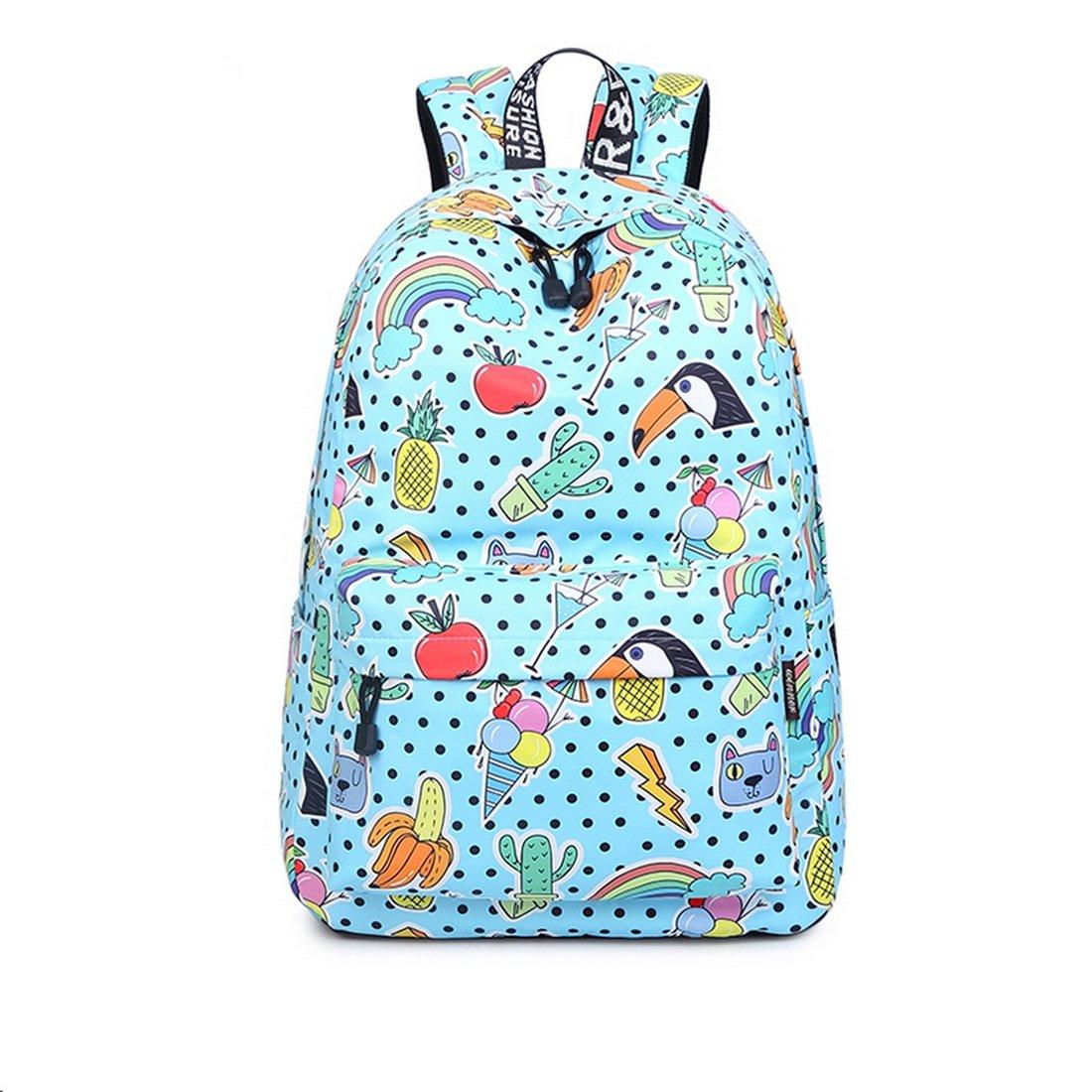 Joymoze Cartera Escolar para Niñas Impermeable - Linda Mochila para el Instituto - Mochila de Diario para Mujeres (Azul Claro) JYBP843LTBL