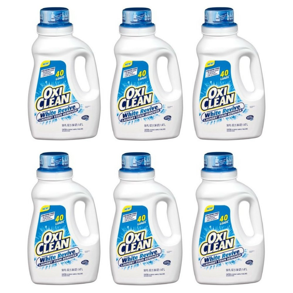 OxiClean White Revive Laundry Stain Remover, 50 fl oz (pack of 6)