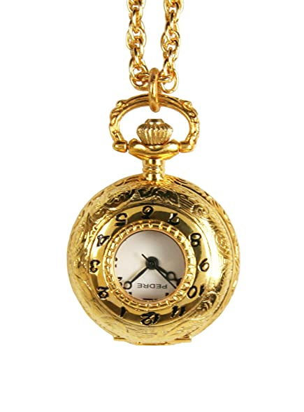 Amazon pedre womens gold tone covered pendant watch w chain pedre womens gold tone covered pendant watch w chain aloadofball Gallery