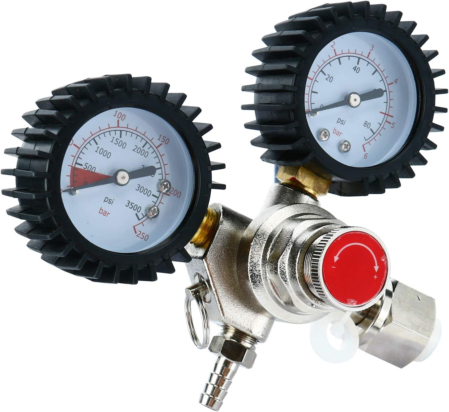 YaeBrew Dual Gauge CO2 Regulator for Draft Beer Homebrew Kegerator CGA320