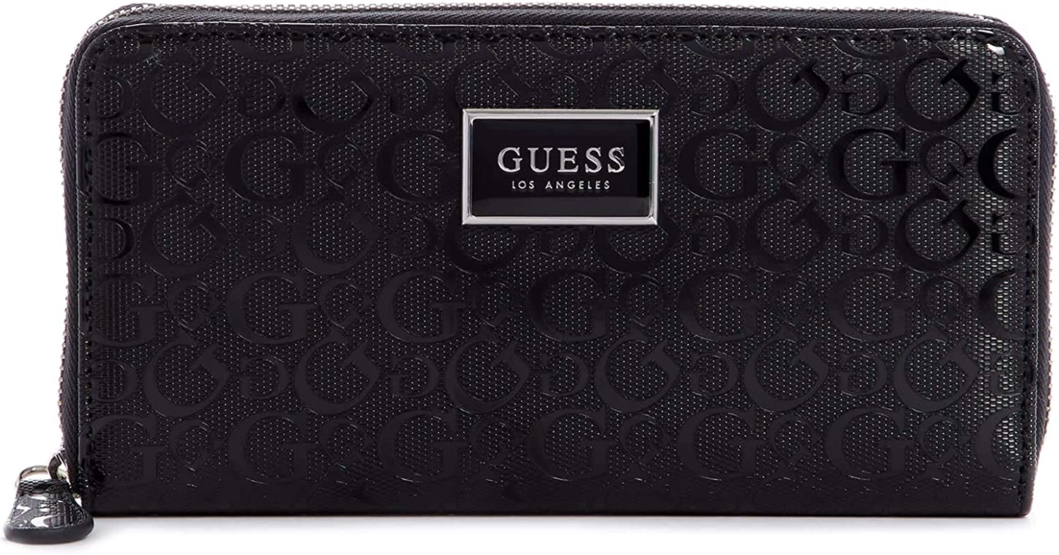 GUESS Factory Akita Logo Zip-Around Wallet