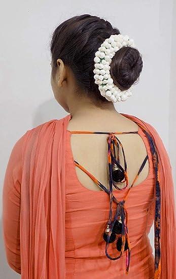 Buy Ekan Juda Hair Bun Gajra For Women Girls Party Wear Hair Accessories 15 Gram Pack Of 1 Online At Low Prices In India Amazon In