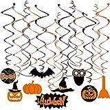 TINKSKY Halloween Swirl Hanging Dizzy Dangler Foil Hanging Decoration for Halloween Party Supplies (10pcs Cross Swirl Hanging + 19pcs Swirl Hanging with Pendant )