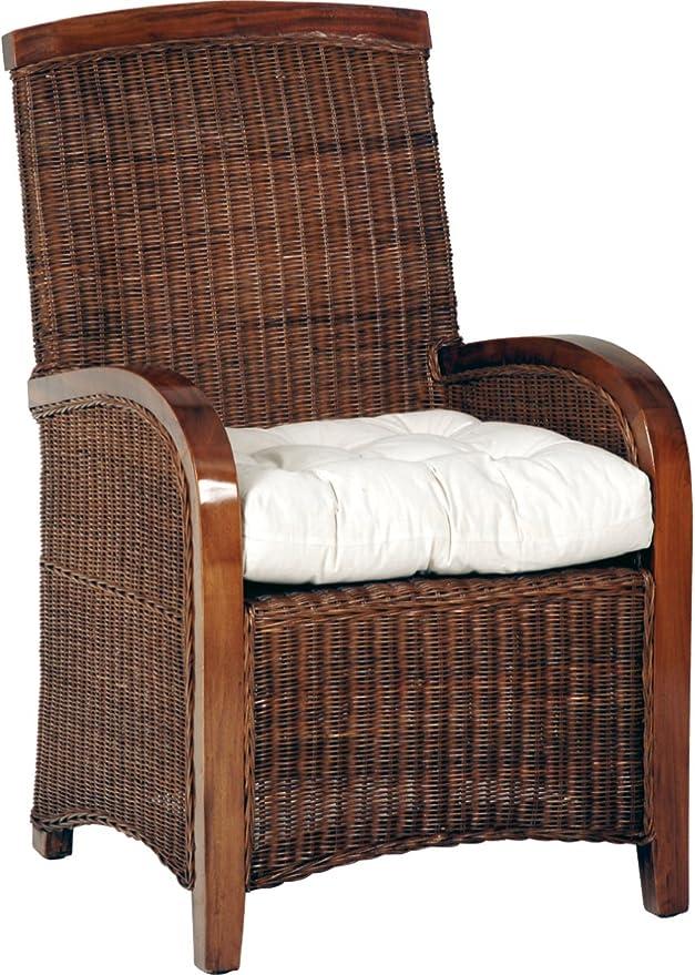 Destock Meubles Sillones Caoba/Rattan (X2): Amazon.es: Hogar