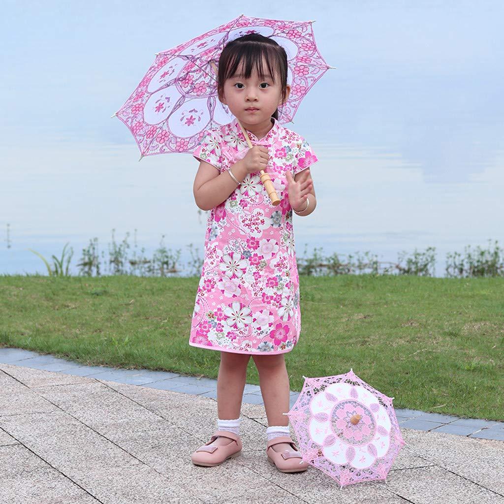 Rameng Ombrelle Mariage Dentelle Mari/ée Femme Parasol Parapluie Mariage D/écoration Fait /à la Main Bleu