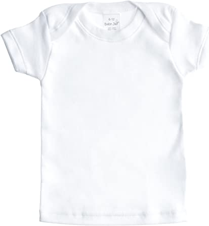 Boys and Girls T Shirt Baby Jay Short Sleeved Undershirt 3 Pack White Unisex Baby and Toddler Soft Cotton Tee