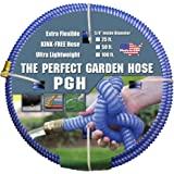 "Tuff-Guard The Perfect Garden Hose, Kink Proof Garden Hose Assembly, Blue, 5/8"" Male x Female GHT Connection, 5/8"" ID, 25 Foot Length"