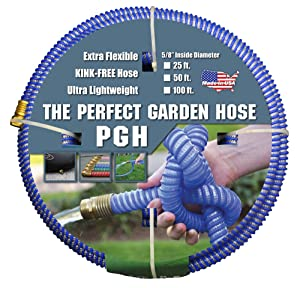 "Tuff-Guard The Perfect Garden Hose, Kink Proof Garden Hose Assembly, Blue, 5/8"" Male x Female GHT Connection, 5/8"" ID, 100 Foot Length"