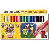 PlayColor 10521 - Caja de 12 temperas solidas 5 g, colores surtidos
