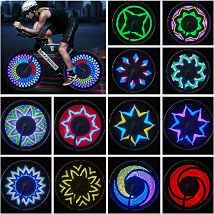 Bicycle Wheels Lights Waterproof Bike Rim Lights//Spoke Lights with 21-LED And 21pcs Changes Patterns for MTB Wheel Tire