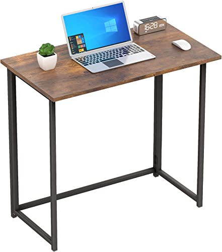 NOBLEWELL Folding Desk No Assembly Small Foldable Computer Desk