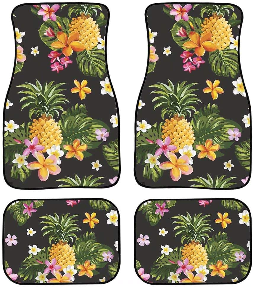 You are My Sunshine Forchrinse Sunflower Car Floor Mats 4 Pieces All Weather Carpet Protector Front/&Rear Set