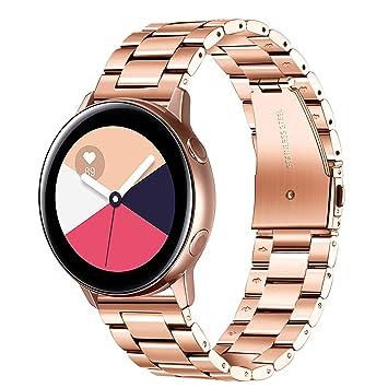 TRUMiRR Galaxy Watch Active 40mm/Galaxy Watch 42mm Correa, 20mm Sólido Acero Inoxidable Metal Correa de Reloj Correa de liberación rápida para Samsung ...