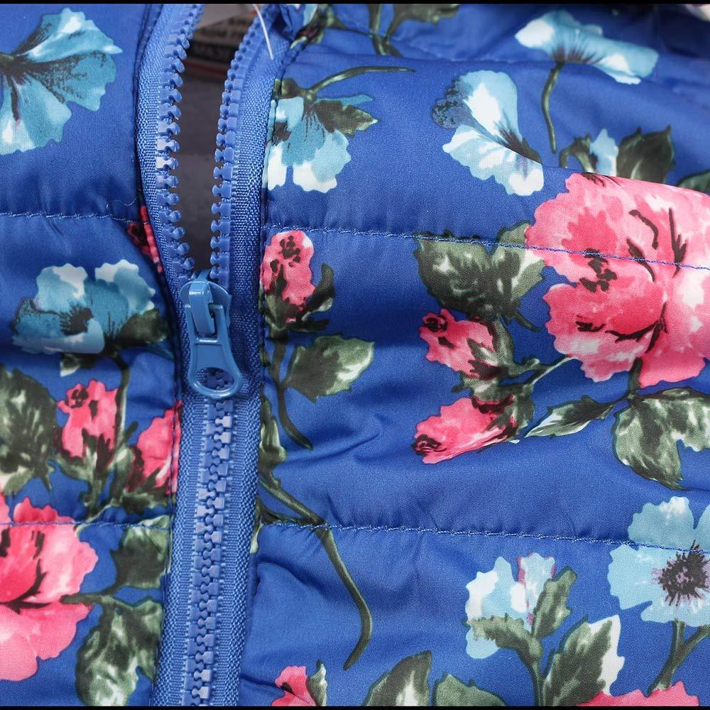 Anxinke Kids Boys Girls Winter Warm Floral Printed Sleeveless Down Jackets