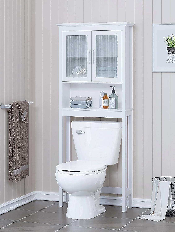 Amazon.com: Spirich Home Bathroom Shelf Over The Toilet, Bathroom ...