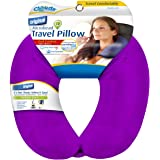 Cloudz® Bright Purple Adult Microbead Travel Neck Pillow