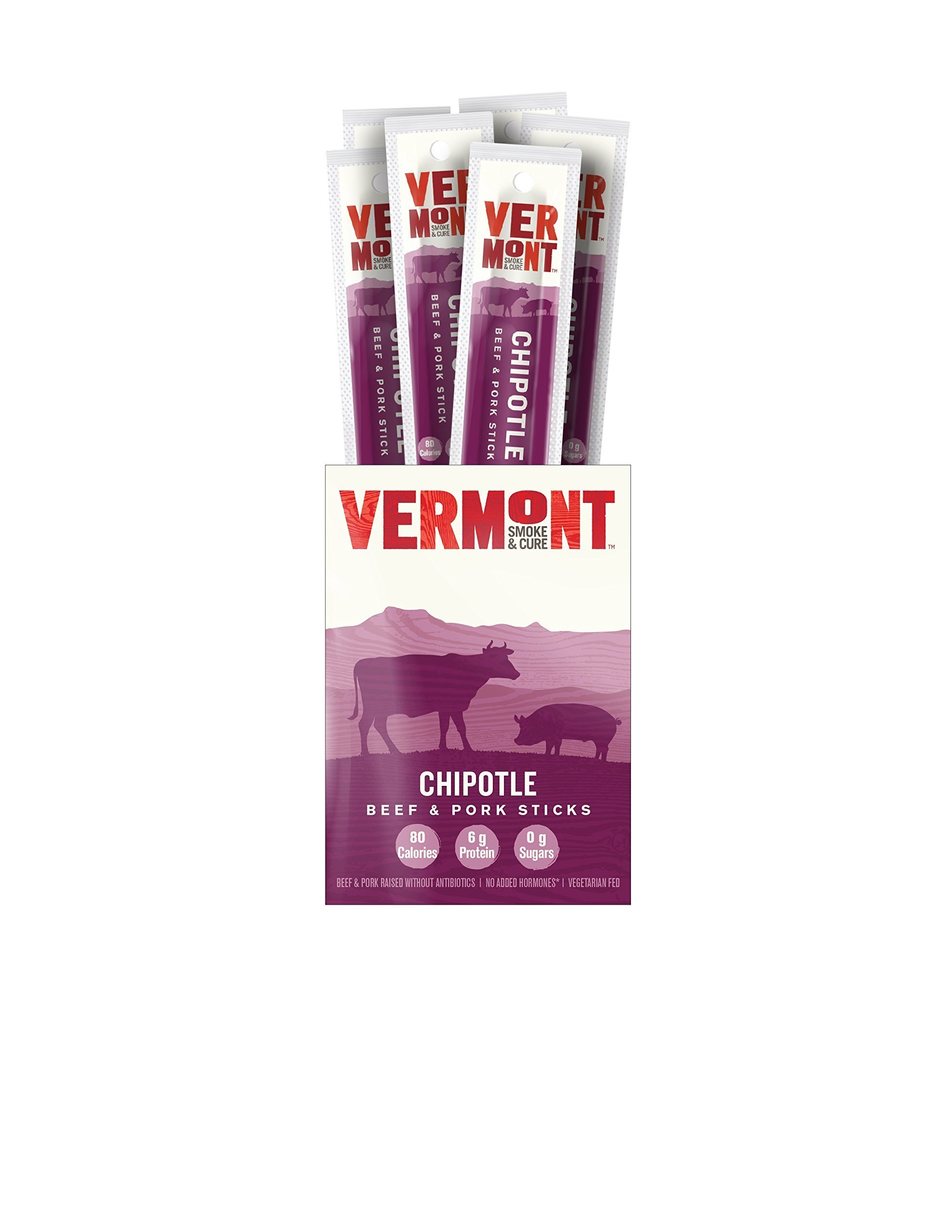 Vermont Smoke & Cure Meat Sticks, Beef & Pork, Antibiotic Free, Gluten Free, Chipotle, 1oz Stick, 24 Count by Vermont Smoke and Cure (Image #8)