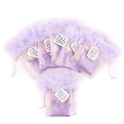 Juego de 6 bolsas para polvo de hada con purpurina de amatista: Juguetes y juegos