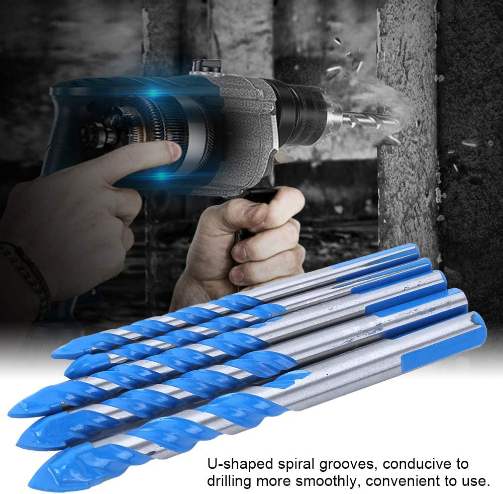 6mm 6mm 8mm 10mm 12mm Adamant Hole Drilling Bits Efficient Tile Drill Bits Center Drill Bits Set Hole Drilling 5pcs box Sophisticated for Punching
