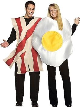 Desconocido Disfraz pareja huevo y bacón: Amazon.es: Juguetes y juegos