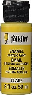 product image for FolkArt Enamel Glass & Ceramic Paint in Assorted Colors (2 oz), 4017, Lemon Custard
