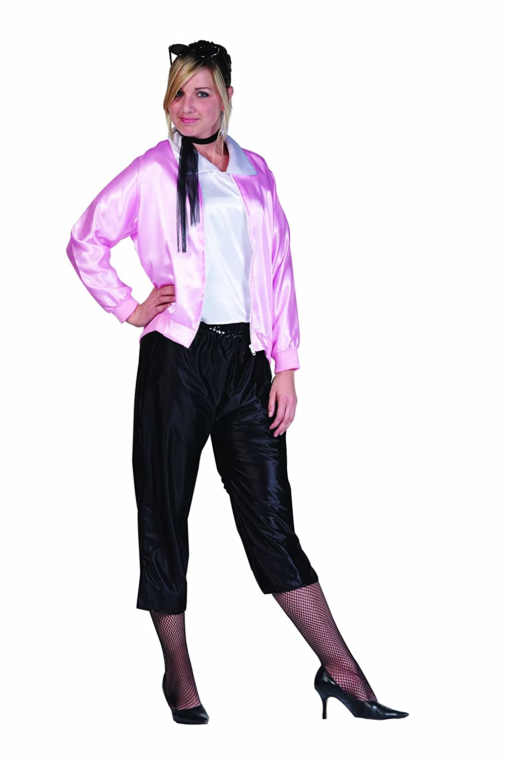amazoncom rg costumes plus size 50s lady jacket pink one size clothing