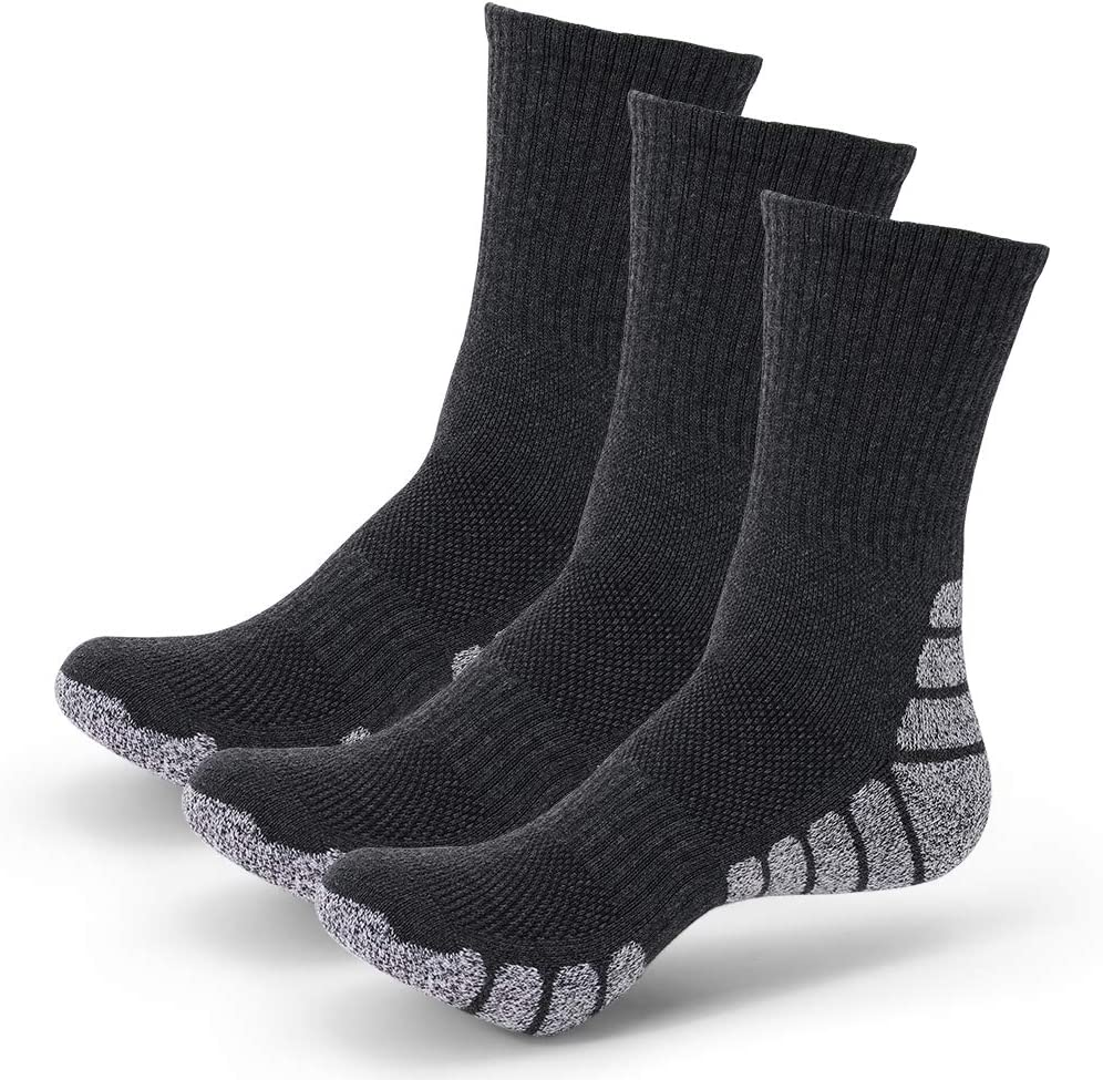 3 Pairs Running Socks Cushioned Sports Socks Ankle Socks Trainer Socks for Men Women Ladies Cotton,Great for Outdoor Sports Hiking Trekking Walking