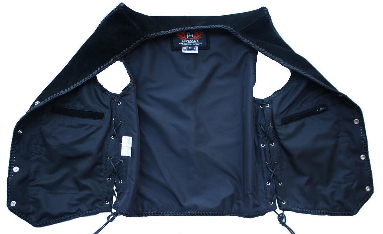taglia M Bikers Gear Australia Limited intrecciato moto colore: Nero in pelle scamosciata