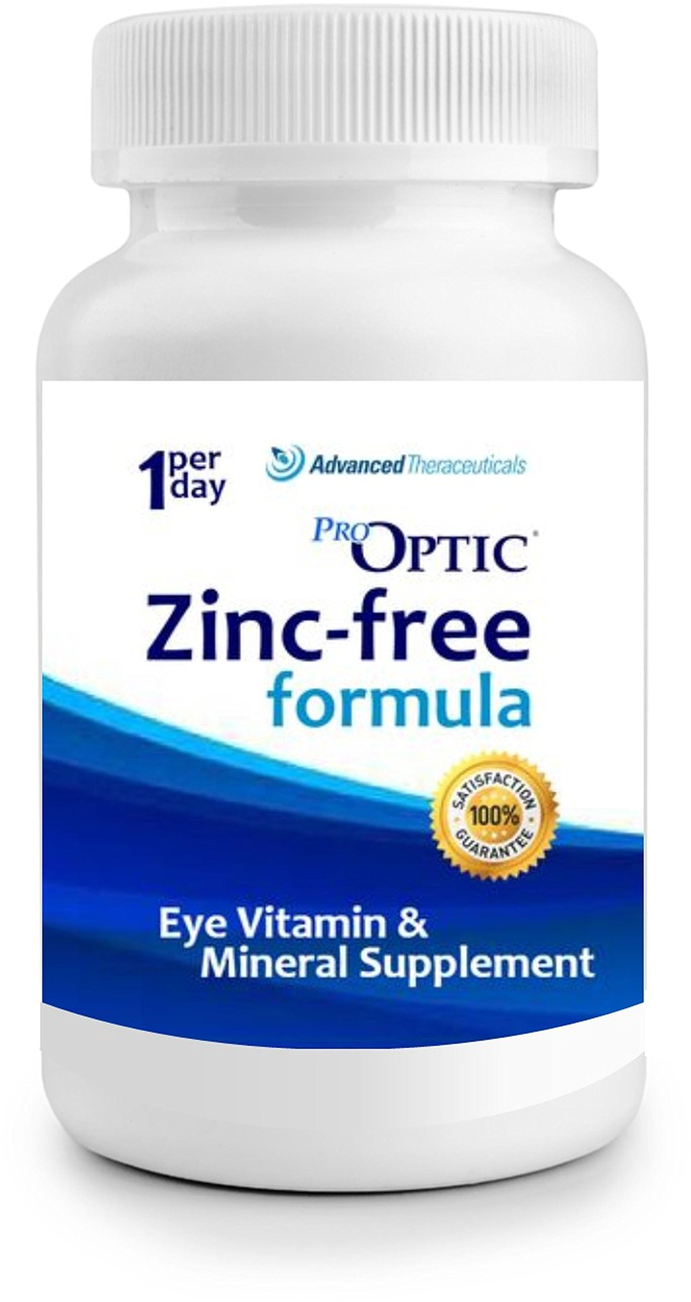 Pro-Optic AREDS 2 (ZINC-FREE) Formula (3 Month Supply) 1-Per-Day/Veggie Caps