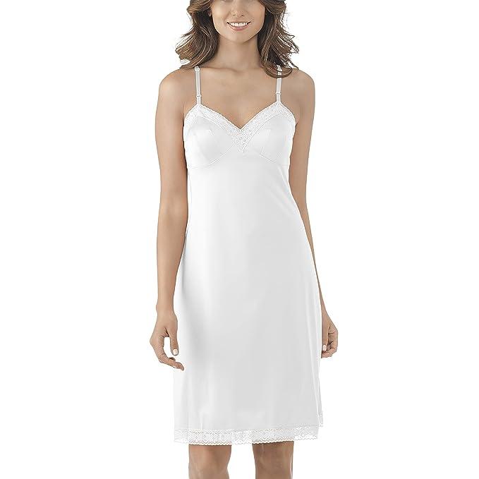 Vanity Fair Womens Rosette Lace Full Slip Star White Size 34