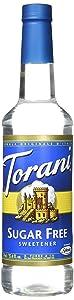 Torani Sugar Free Syrup, Sweetener, 25.4 Ounce (Pack of 1)