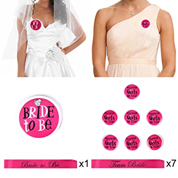 c68f689c9c25 InnoBase Future Mariée Team Mariée sash Hen party bride to be écharpe  Badges Témoin de la