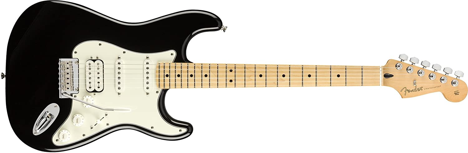 Amazon.com: Fender Player Stratocaster HSS Electric Guitar - Maple Fingerboard - Black: Musical Instruments
