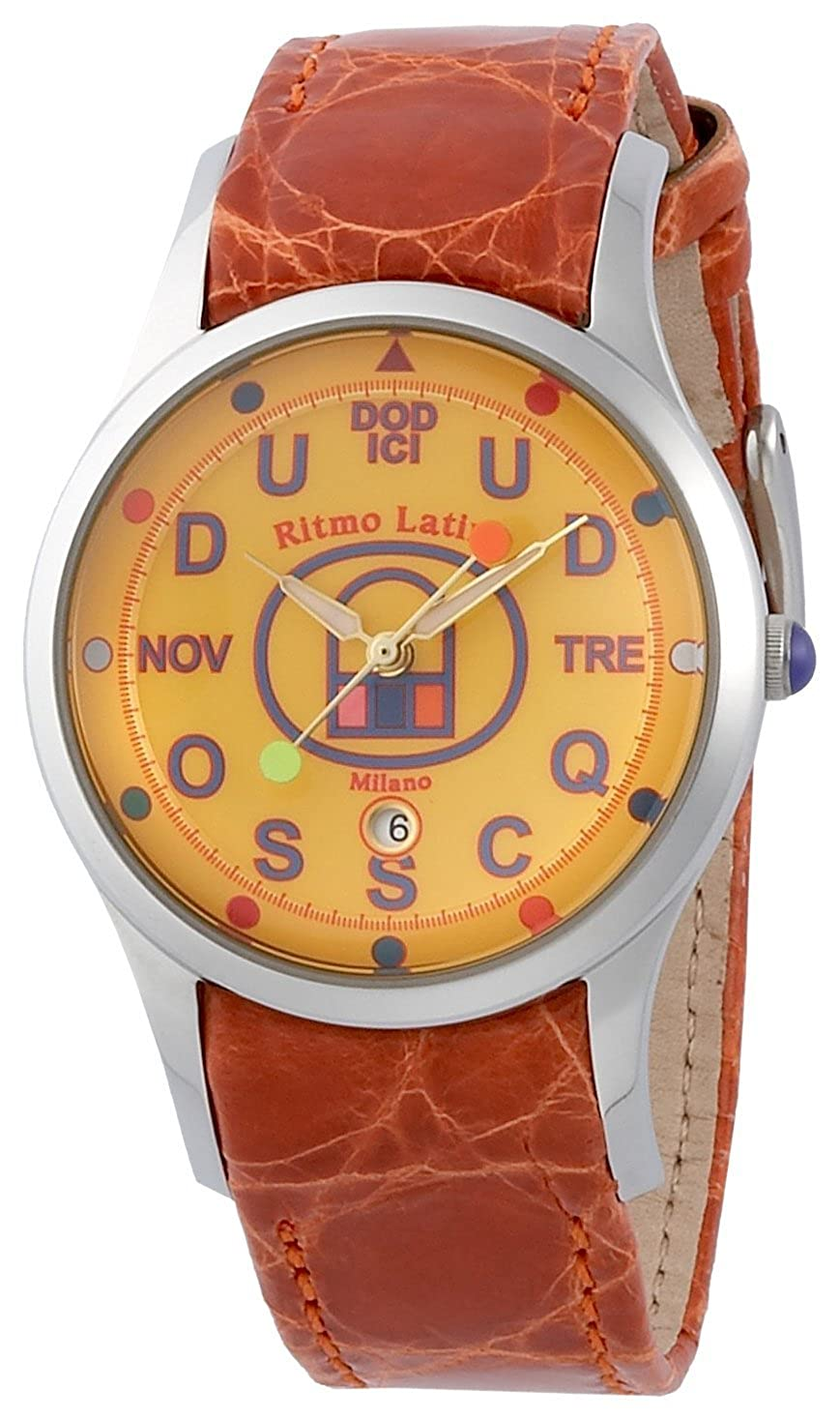 [リトモラティーノ]RITMO LATINO 腕時計 FINO F70DB レギュラーサイズ イエロー ワニ革ストラップ レディース [正規輸入品] B0026RHANK