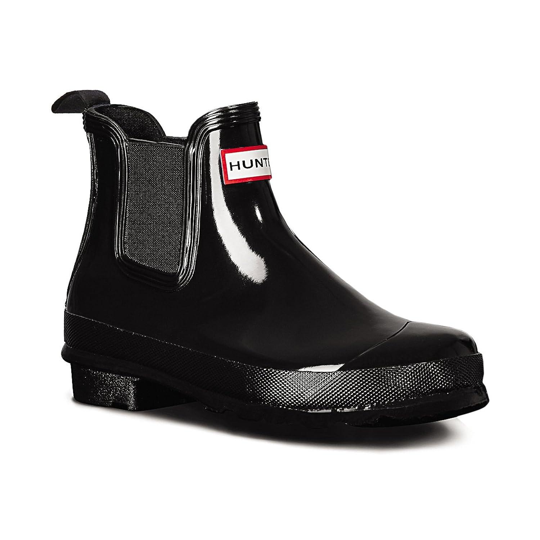 Womens Hunter Original Chelsea Gloss Wellingtons Winter Ankle Rain Boots