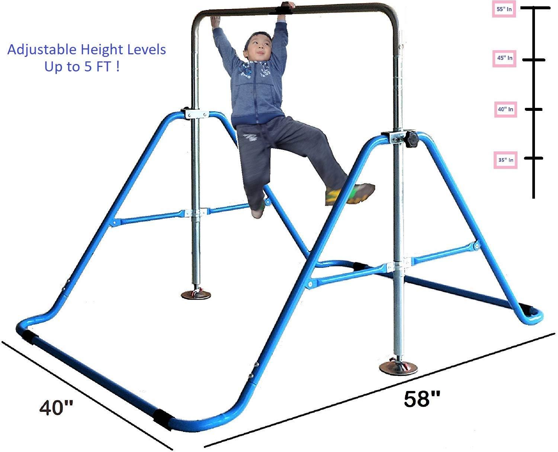 KidsJungle Kids Monkey Bars Jungle Gym Climbing Tower Gymnastics Playground Expandable Junior Training Blue by KidsJungle