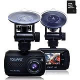 TOGUARD Mini Full HD 1080p Coche Dash Cam DVR Integrado En Salpicadero Cámara G-sensor Grabadora De Detección De Movimiento, Visión Nocturna, Una tarjeta MicroSD de 16GB incluidos.