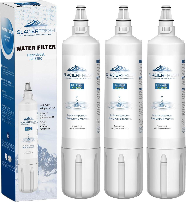 GLACIER FRESH 4204490 Water Filter Cartridge Compatible with GLACIER FRESH 4204490 Water Filter Replacement for Insinkerat 4204490 Insinkerator F-1000 Replacement Refrigerator Water Filter, 3 Pack