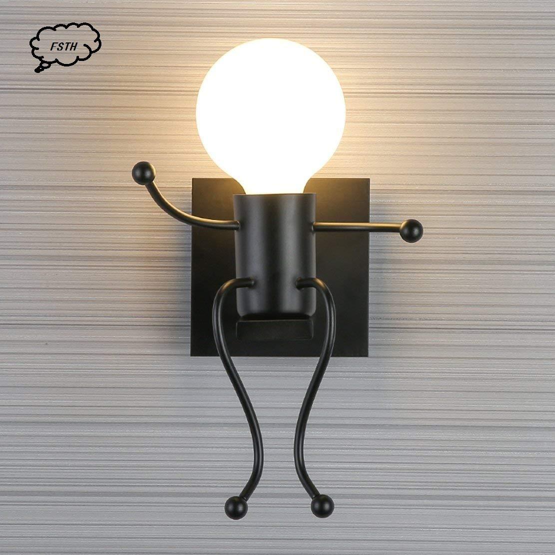 Corridoio E27 Ristorante Bianco Camera da Letto MC Creativo Lampada da Parete Retro Ferro Vintage Applique da Parete Modern Metallo Decor Lampada da Applique Illuminazione per Bar
