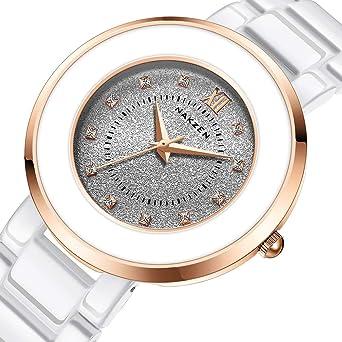 Amazon.com: Nakzen - Reloj de cuarzo para mujer, analógico ...