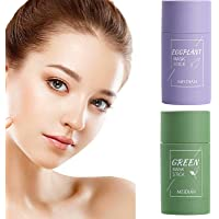 YDANH 2PCS Green Tea/Eggplant Purifying Clay Stick Mask, Deep Cleansing Smearing Clay Mask, Face Moisturizes Oil Control…
