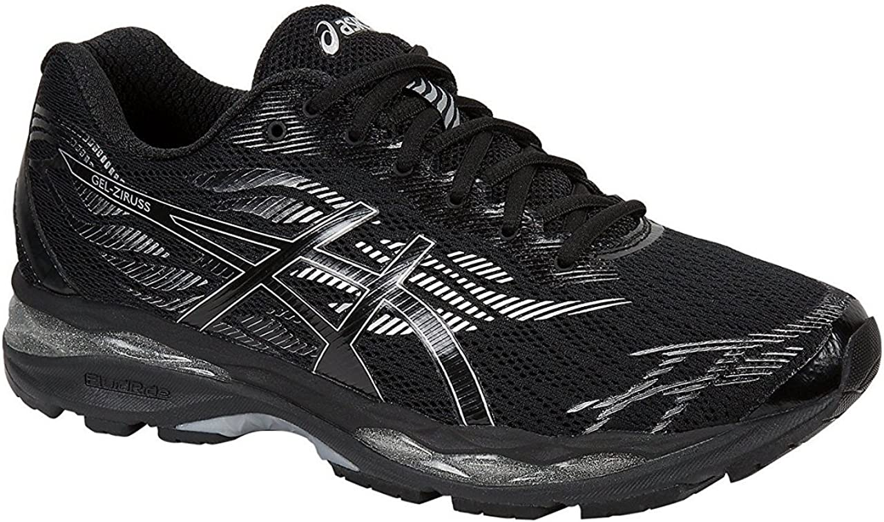 Asics Gel-Ziruss Hombres Running T7J1N Sneakers Turnschuhe (UK 10.5 US 11.5 EU 46.5, Black Silver 9090)