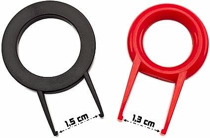 KEYCAP Puller rot + schwarz Plastik TwinPack