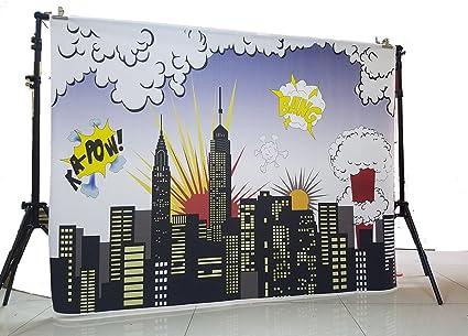 Super City Hintergrund Für Baby Kinder Geburtstag Party Kamera