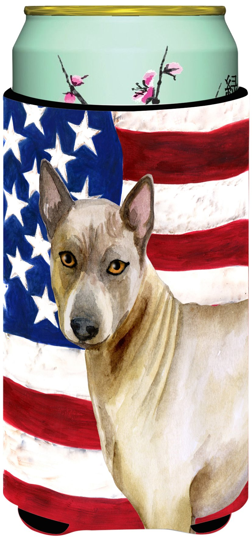 Caroline's Treasures BB9680TBC Thai Ridgeback Patriotic Decorative Can Hugger, Tall Boy, Multicolor