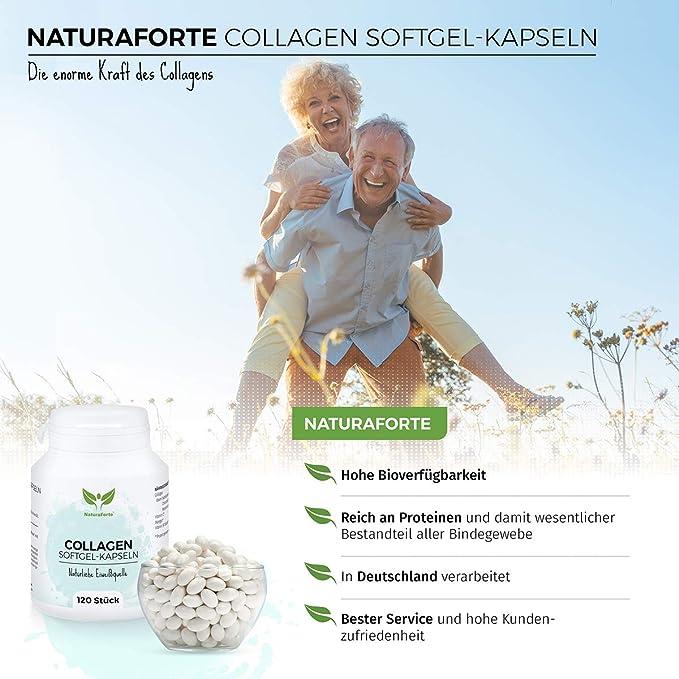 Colágeno Hidrolizado Marino en Cápsulas Sin Aditivos (120 unidades) | Anti Edad y Anti Arrugas 100% Natural | NaturaForte: Amazon.es: Salud y cuidado ...