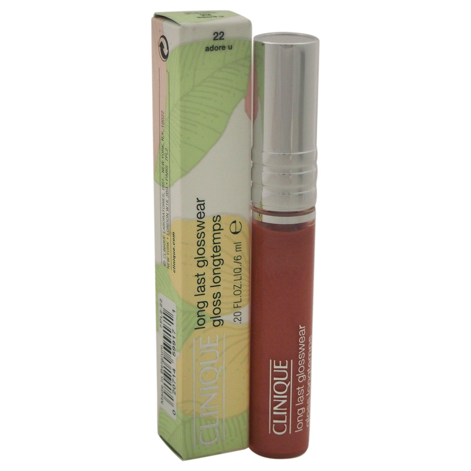 Clinique Long Last Glosswear Lip Gloss, 22 Adore U, 0.20 Ounce by Clinique