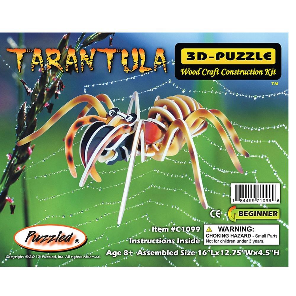 Puzzled Colorful Wood Craft Construction Tarantula 3D Jigsaw Puzzle