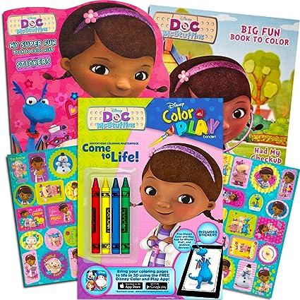 Amazon Com Disney Junior Doc Mcstuffins Coloring Book Super Set